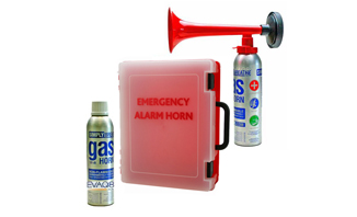 Emergency Alarm Station - Air Horn wall mountable fire safety kit | FireSafetyKits from EVAQ8.co.uk - safe evacuation