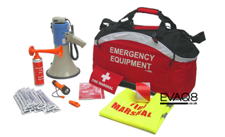 Standard Fire Marshal Kit | FireSafetyKits from EVAQ8.co.uk - safe evacuation
